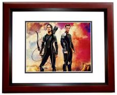 Jennifer Lawrence Signed - Autographed Hunger Games 8x10 inch Photo MAHOGANY CUSTOM FRAME - Guaranteed to pass PSA or JSA -  - Katniss Everdeen