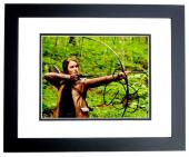 Jennifer Lawrence Signed - Autographed Hunger Games - Katniss Everdeen 8x10 inch Photo BLACK CUSTOM FRAME - Guaranteed to pass PSA/DNA or JSA