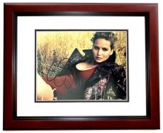 Jennifer Lawrence Signed - Autographed Sexy 11x14 inch Photo MAHOGANY CUSTOM FRAME - Guaranteed to pass PSA or JSA - Hunger Games Actress