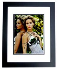Jennifer Lawrence Signed - Autographed Sexy Actress 8x10 inch Photo BLACK CUSTOM FRAME - Hunger Games Katniss Everdeen - Guaranteed to pass PSA or JSA