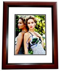 Jennifer Lawrence Signed - Autographed Sexy Actress 8x10 inch Photo MAHOGANY CUSTOM FRAME - Hunger Games Katniss Everdeen - Guaranteed to pass PSA or JSA