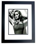 Jennifer Lawrence Signed - Autographed Sexy B+W 8x10 inch Photo BLACK CUSTOM FRAME - Guaranteed to pass PSA or JSA - Hunger Games Actress