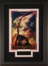 Jennifer Lawrence signed Hunger Games Catching Fire 11x17 Movie Poster Leather Framed