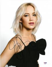Jennifer Lawrence Signed Sexy Authentic Autographed 11x14 Photo PSA/DNA #AB89801