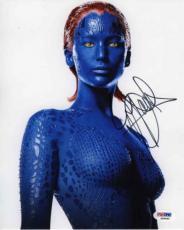 Jennifer Lawrence X-Men Raven Mystique Autographed Signed 8x10 Photo PSA/DNA COA