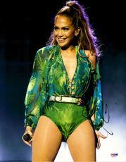 """Jennifer Lopez Autographed 11"""" x 14"""" Performing Photograph - PSA/DNA"""