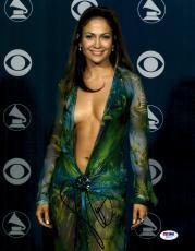"""Jennifer Lopez Autographed 11"""" x 14"""" Pose Photograph - PSA/DNA"""