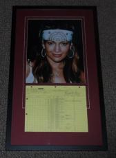 Jennifer Lopez Signed 1992-93 In Living Color Time Sheet & Photo Display JSA