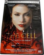 Jennifer Lopez The Cell Autograph DVD Hand Signed on Plastic cover With COA