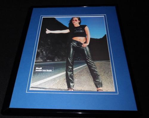 Jennifer Love Hewitt 2000 Hitchhiking in Belly Shirt Framed 11x14 Photo Display