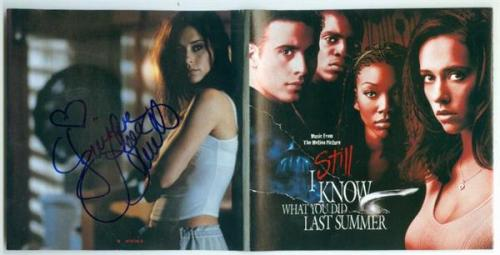 Jennifer Love Hewitt autographed CD Cover Booklet I Still Know What You Did Last Summer