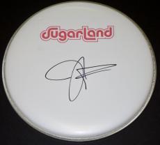 Jennifer Nettles Autographed Drum Head with SUGARLAND logo sticker