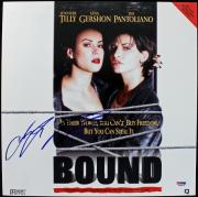 Jennifer Tilly Bound Signed Laserdisc Cover PSA/DNA #J00679