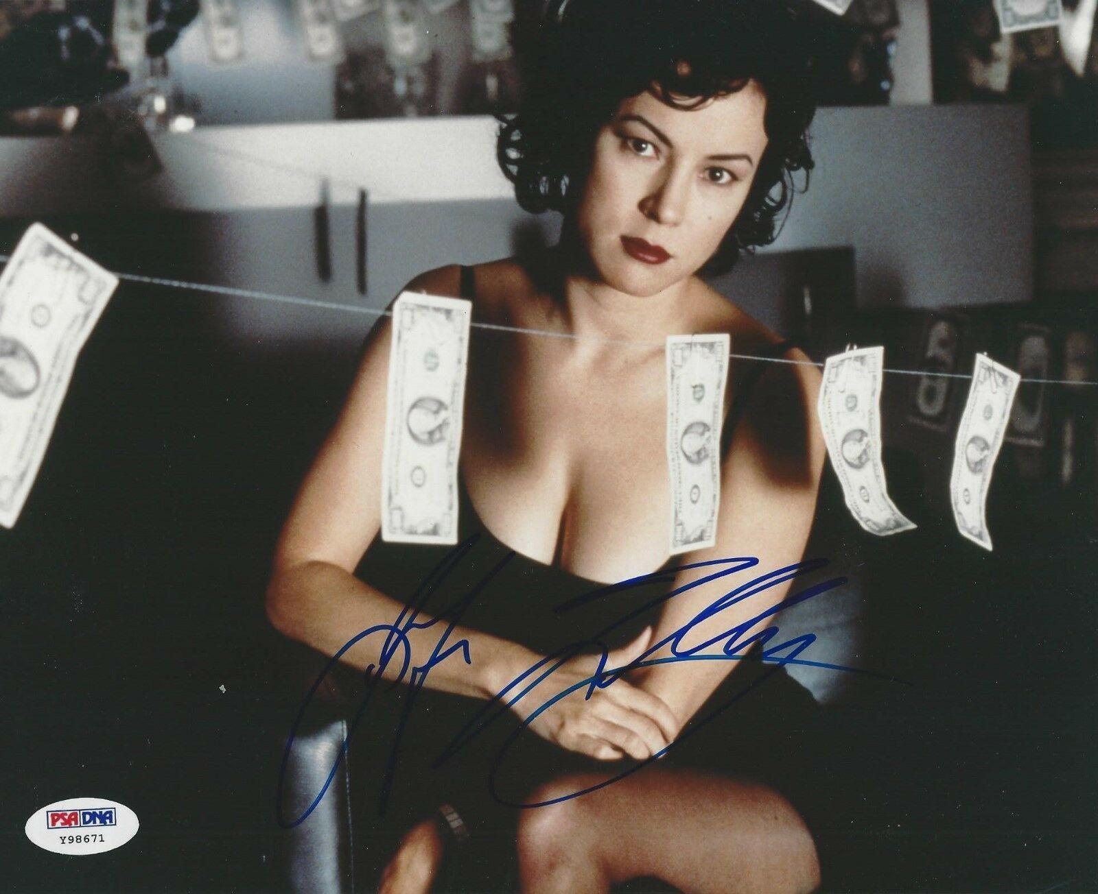 Jennifer Tilly autographed sexy 8x10 photo (PSA/DNA