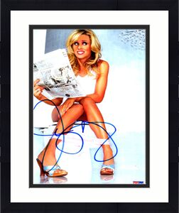 Jenny McCarthy Panties Playboy Autographed Photo PSA/DNA Video Proof UACC RD AFT