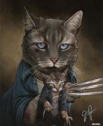 Jenny Parks Signed BAM BOX Exclusive Old Cat Logan 8x10 Art Print