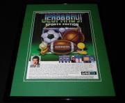 Jeopardy! Sports Edition 1994 SNES Sega Framed 11x14 ORIGINAL Advertisement