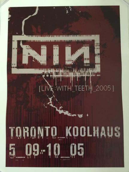 Jeordie TWIGGY RAMIREZ Signed NIN Nine Inch Nails Original Tour Poster 9 Proof