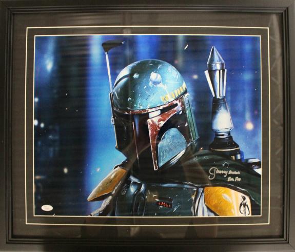Jeremy Bulloch Autographed Star Wars Bob Fett Framed 16x20 Photo JSA 26854