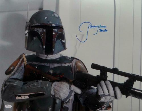 Jeremy Bulloch Autographed Star Wars Boba Fett Close Up 16x20 Photo- JSA W Auth