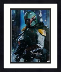 Jeremy Bulloch Autographed Star Wars Boba Fett with Gun 11x14 Photo- JSA Auth