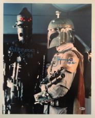 Jeremy Bulloch Bill Hargreaves Signed 16x20 Photo Fett IG-88 Star Wars BECKETT 1