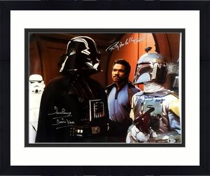 JEREMY BULLOCH, BILLY DEE WILLIAMS, DAVE PROWSE Signed STAR WARS 16x20 Photo BAS