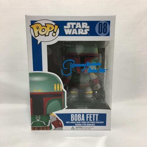 Jeremy Bulloch Boba Fett Signed Funko Pop Doll Star Wars JSA Coa