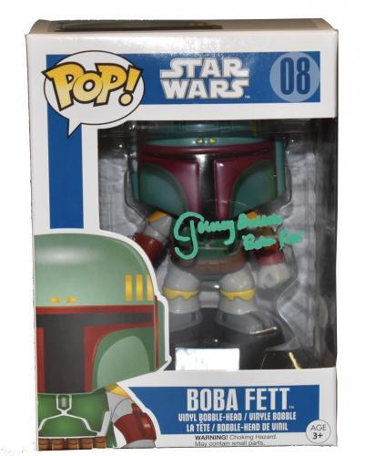 Jeremy Bulloch Boba Fett Signed Funko Star Wars Autograph Proof Beckett Coa B