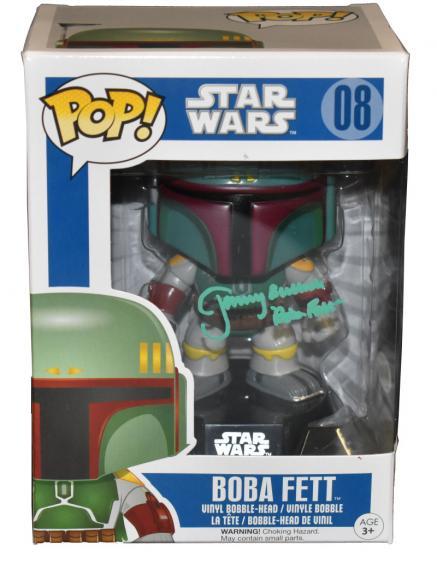Jeremy Bulloch Boba Fett Signed Funko Star Wars Autograph Proof Beckett Coa E
