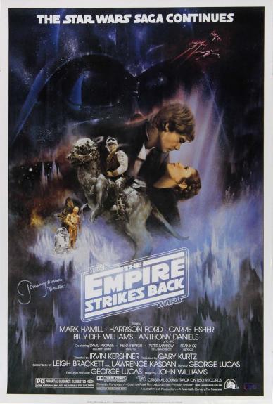 "Jeremy Bulloch ""Boba Fett"" Signed Star Wars Empire Strikes Back 24x36 Movie Poster - Alternate"