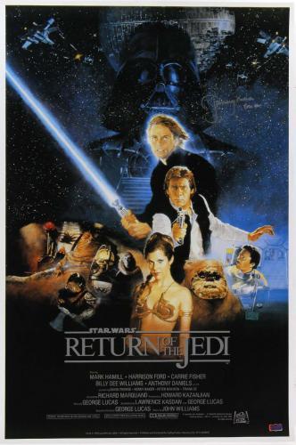 "Jeremy Bulloch ""Boba Fett"" Signed Star Wars Return Of The Jedi 24x36 Movie Poster - Alternate"