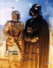 JEREMY BULLOCH & DAVE PROWSE Signed STAR WARS 11x14 Photo BECKETT BAS #C83383