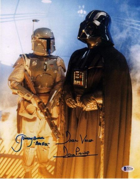 JEREMY BULLOCH & DAVE PROWSE Signed STAR WARS 11x14 Photo BECKETT BAS #C83384