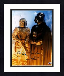 JEREMY BULLOCH & DAVE PROWSE Signed STAR WARS 11x14 Photo BECKETT BAS #C83385