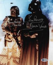 JEREMY BULLOCH & DAVID DAVE PROWSE DUAL SIGNED 8x10 PHOTO STAR WARS BECKETT BAS
