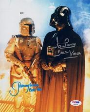 JEREMY BULLOCH & DAVID DAVE PROWSE DUAL SIGNED 8x10 PHOTO STAR WARS PSA/DNA