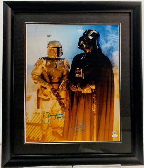 Jeremy Bulloch & David Prowse Signed 16x20 Darth Vader & Boba Fett Photo