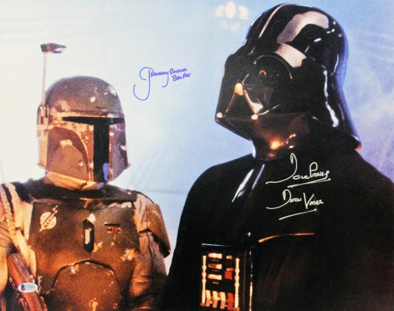 Jeremy Bulloch & David Prowse Star Wars Signed 16x20 Photo BAS 1
