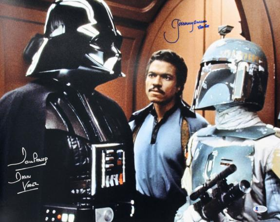 Jeremy Bulloch & David Prowse Star Wars Signed 16x20 Photo BAS