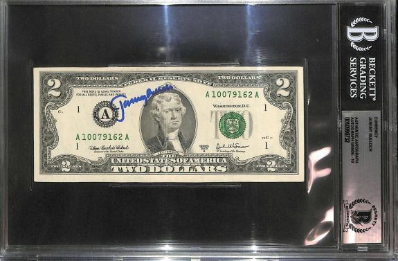 Jeremy Bulloch Signed $2 Two Dollar Bill BAS Beckett COA Gem Mint 10 Autograph