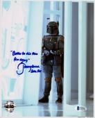 JEREMY BULLOCH SIGNED 8x10 PHOTO + GREAT QUOTE BOBA FETT STAR WARS BECKETT BAS