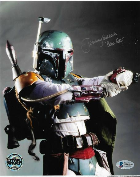Jeremy Bulloch Signed 8x10 Star Wars Official Pix & BECKETT COA Autographed D9