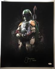 Jeremy Bulloch Signed Autographed Boba Fett 16x20 Photo Star Wars JSA COA 9