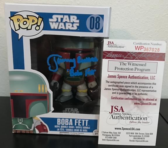 Jeremy Bulloch Signed   Autographed Boba Fett Funko Pop Toy Doll Figurine - JSA Certified