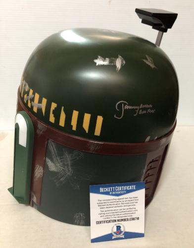 JEREMY BULLOCH signed autographed BOBA FETT HELMET Star Wars BECKETT BAS COA 9