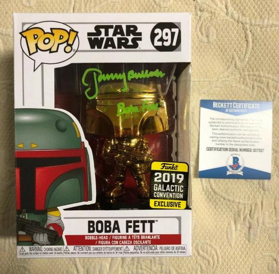 Jeremy Bulloch Signed Autographed Boba Fett Star Wars 2019 Funko Pop Beckett 1