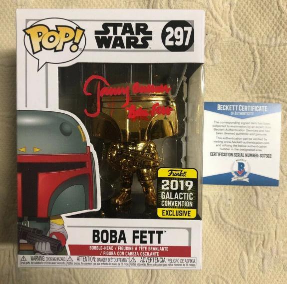 Jeremy Bulloch Signed Autographed Boba Fett Star Wars 2019 Funko Pop Beckett 27