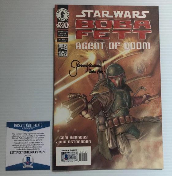 Jeremy Bulloch Signed Autographed Stars Wars Boba Fett Comic BECKETT COA 4