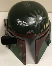 Jeremy Bulloch Signed Boba Fett Full-size Deluxe Edition Star Wars Helmet Proof